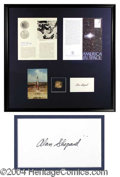 Autographs, Alan Shepard Signature Framed