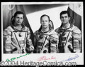 Autographs, Soyuz TM-5 Signed Photograph