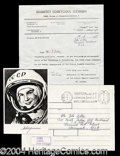 Autographs, Valentina Tereshkova Signed Photo USSR