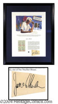 Autographs, James Thurber Framed Signature