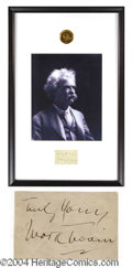 Autographs, Mark Twain Framed Signature