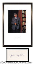 Autographs, John Updike Ink Signature