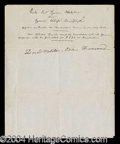Autographs, Daniel Webster Signed Document