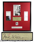 Autographs, William Carlos Williams Signed Bank Check