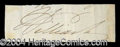 Autographs, William IV King of England Ink Signature