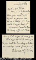Autographs, Edith Bolling Wilson 3-Page Letter Signed