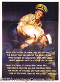 Autographs, World War II Poster: A Soldier's Courage