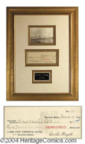 Autographs, Orville Wright Signed Bank Check
