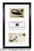 Autographs, Graf Zeppelin Fabric Swatch Display