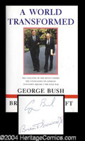 Autographs, George Bush Signed Hardcover Book