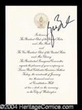 Autographs, George W. Bush Signed Inauguration Invitation