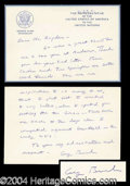 Autographs, George Bush Handwritten Signed Note