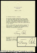 Autographs, Jimmy Carter Typed Letter Signed as President
