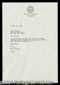 Autographs, Bill Clinton Typed Letter Signed
