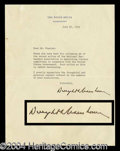 Autographs, Dwight Eisenhower TLS Signed as President