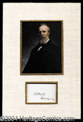 Autographs, Rutherford B. Hayes Signature Display