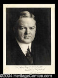 Autographs, Herbert Hoover Signed Photograph