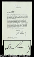 Autographs, John F. Kennedy Typed Letter Signed as Pres