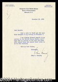 Autographs, John F. Kennedy Typed Letter Signed