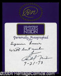 Autographs, Richard Nixon Signed Bookplate