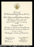 Autographs, Richard Nixon Inauguration Invitation