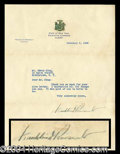 Autographs, Franklin D. Roosevelt Typed Letter Signed