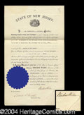 Autographs, Woodrow Wilson Signed Document