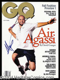 Autographs, Andre Agassi Signed GQ Magazine