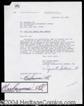 Autographs, Muhammad Ali Signed Agreement