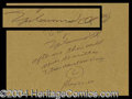 Autographs, Muhammad Ali Hand Signed Quotation