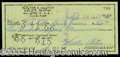 Autographs, Walt Alston Signed Bank Check