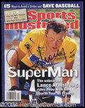 Autographs, Lance Armstrong Signed Sports Illustrated