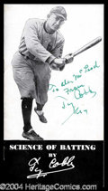 Autographs, Ty Cobb Rare Signed Batting Booklet