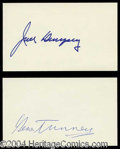 Autographs, Jack Demsey & Gene Tunney Signature Lot