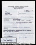Autographs, Joe DiMaggio Signed Contract Agreement