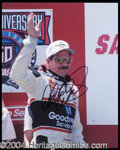 Autographs, Dale Earnhardt Signed 8 x 10 Photograph