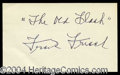 Autographs, Frank Frisch Ink Signature