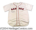 Autographs, Billy Herman Signed Red Sox Jersey HOF