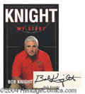 Autographs, Bob Knight Signed First Edition Book