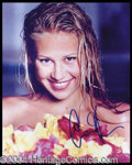 Autographs, Anna Kournikova Signed 8 x 10 Photo