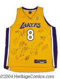 Autographs, 2000-2001 L.A, Lakers Team Signed Jersey