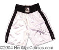 Autographs, Sugar Ray Leonard Signed Boxing Trunks