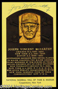 Autographs, Joe McCarthy Signed Hall Of Fame Postcard