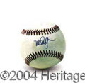 Autographs, Mark McGwire Rare Sweetspot Signed Ball PSA/DNA