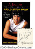 Autographs, Apolo Anton Ohno Signed First Ed. Book