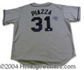 Autographs, Mike Piazza Signed Mets Jersey