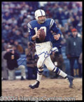 Autographs, Johnny Unitas Signed 8 x 10 Photo