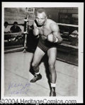 Autographs, Jersey Joe Walcott Signed 8 x 10 Photo