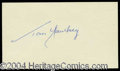 Autographs, Tom Yawkey Beautiful Ink Signature