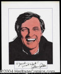 Autographs, Alan Alda Signed Original Ellison Artwork